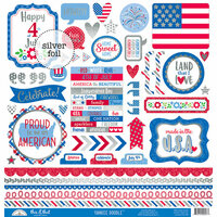 Doodlebug Design - Yankee Doodle Collection - Cardstock Stickers - This and That