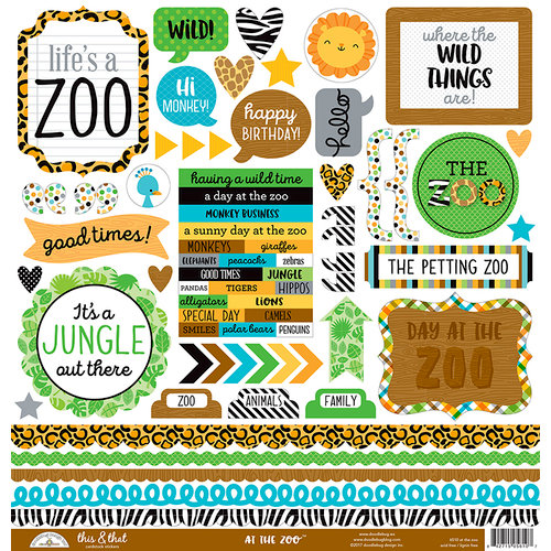 Doodlebug Design - At the Zoo Collection - Cardstock Stickers - This and That