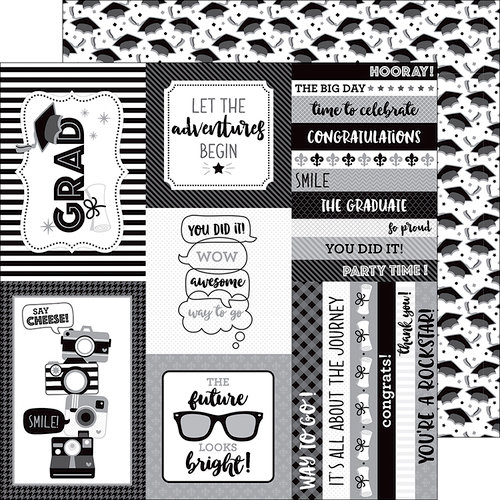 Doodlebug Design - Hats Off Collection - 12 x 12 Double Sided Paper - Hats Off