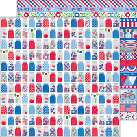 Doodlebug Design - Yankee Doodle Collection - 12 x 12 Double Sided Paper - Pint Size Treasures