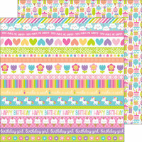 Doodlebug Design - Fairy Tales Collection - 12 x 12 Double Sided Paper - Sweet Celebration