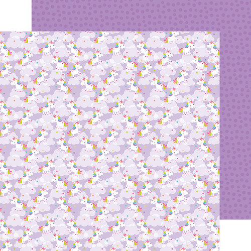 Doodlebug Design - Fairy Tales Collection - 12 x 12 Double Sided Paper - Magical Unicorns