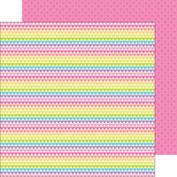 Doodlebug Design - Fairy Tales Collection - 12 x 12 Double Sided Paper - Rainbow Love