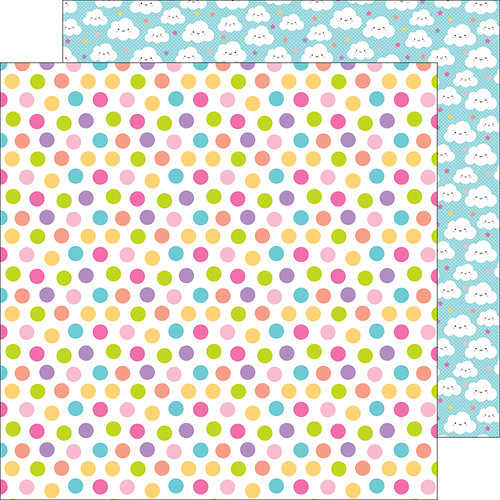 Doodlebug Design - Fairy Tales Collection - 12 x 12 Double Sided Paper - Princess Polka-Dots