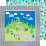 Doodlebug Design - Dragon Tails Collection - 12 x 12 Double Sided Paper - Dragon Tails