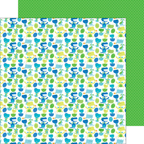 Doodlebug Design - Dragon Tails Collection - 12 x 12 Double Sided Paper - Dragon Den