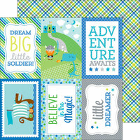Doodlebug Design - Dragon Tails Collection - 12 x 12 Double Sided Paper - Viking Plaid
