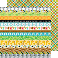 Doodlebug Design - At the Zoo Collection - 12 x 12 Double Sided Paper - Safari Plaid