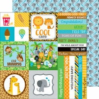Doodlebug Design - At the Zoo Collection - 12 x 12 Double Sided Paper - Elephant Parade