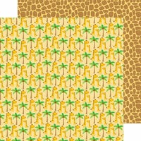 Doodlebug Design - At the Zoo Collection - 12 x 12 Double Sided Paper - Jolly Giraffes