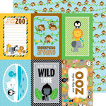 Doodlebug Design - At the Zoo Collection - 12 x 12 Double Sided Paper - Hanging Out