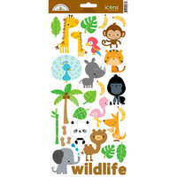 Doodlebug Design - At the Zoo Collection - Cardstock Stickers - Icons