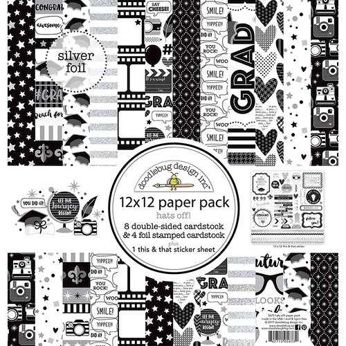 Doodlebug Design - Hats Off Collection - 12 x 12 Paper Pack