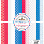 Doodlebug Design - Yankee Doodle Collection - 12 x 12 Paper Pack - Petite Print Assortment