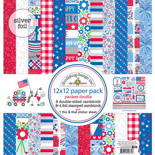 Doodlebug Design - Yankee Doodle Collection - 12 x 12 Paper Pack
