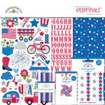 Doodlebug Design - Yankee Doodle Collection - Essentials Kit