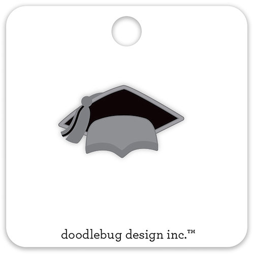 Doodlebug Design - Hats Off Collection - Collectible Pins - Grad Cap