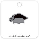 Doodlebug Design - Hats Off Collection - Collectible Pins - Grad Cap