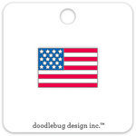 Doodlebug Design - Yankee Doodle Collection - Collectible Pins - USA Flag