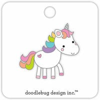 Doodlebug Design - Fairy Tales Collection - Collectible Pins - Unicorn