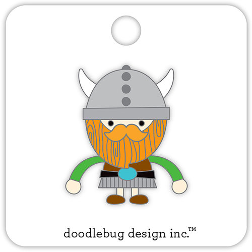 Doodlebug Design - Dragon Tails Collection - Collectible Pins - Viking