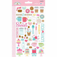 Doodlebug Design - Cream and Sugar Collection - Cardstock Stickers - Icons - Mini