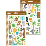 Doodlebug Design - At the Zoo Collection - Cardstock Stickers - Mini Icons