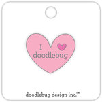 Doodlebug Design - Collectible Pins - I Love Doodlebug - Pink