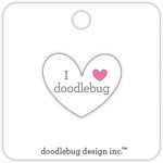 Doodlebug Design - Collectible Pins - I Love Doodlebug - White