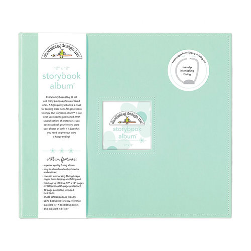 Doodlebug Design - 12 x 12 Storybook Album - Mint