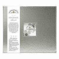 Doodlebug Design - 12 x 12 Storybook Album - Silver