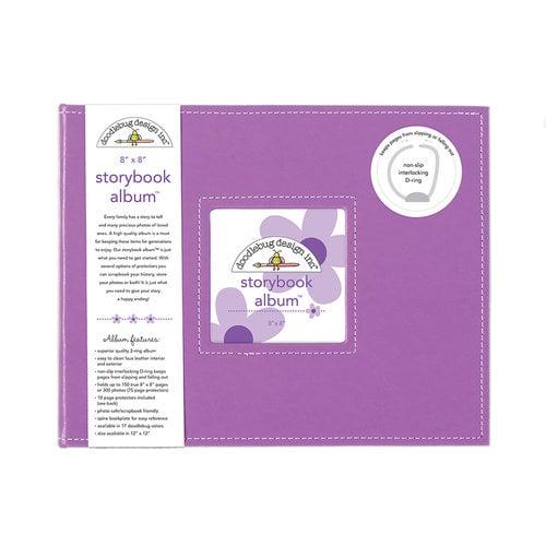 Doodlebug Design - 8 x 8 Storybook Album - Lilac