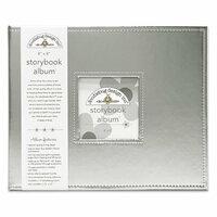 Doodlebug Design - 8 x 8 Storybook Album - Silver