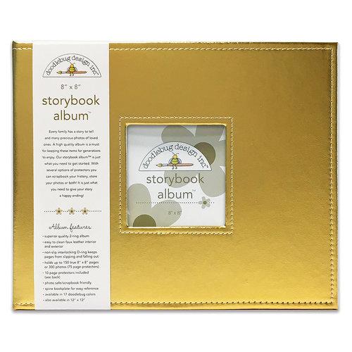 Doodlebug Design - 8 x 8 Storybook Album - Gold