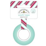 Doodlebug Design - Milk and Cookies Collection - Christmas - Washi Tape - Peppermint Twist