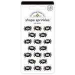 Doodlebug Design - Booville Collection - Halloween - Sprinkles - Self Adhesive Enamel Shapes - Silly Spiders
