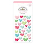 Doodlebug Design - Milk and Cookies Collection - Christmas - Sprinkles - Self Adhesive Enamel Shapes - Candy Hearts