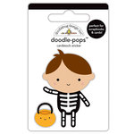 Doodlebug Design - Booville Collection - Halloween - Doodle-Pops - 3 Dimensional Cardstock Stickers - X-Ray