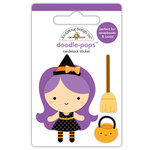 Doodlebug Design - Booville Collection - Halloween - Doodle-Pops - 3 Dimensional Cardstock Stickers - Wanda Witch