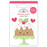 Doodlebug Design - Milk and Cookies Collection - Christmas - Doodle-Pops - 3 Dimensional Cardstock Stickers - Christmas Cake