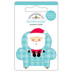 Doodlebug Design - Milk and Cookies Collection - Christmas - Doodle-Pops - 3 Dimensional Cardstock Stickers - Santa Visit