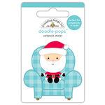 Doodlebug Design - Milk and Cookies Collection - Christmas - Doodle-Pops - 3 Dimensional Cardstock Stickers - Santa Visit