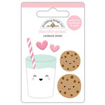 Doodlebug Design - Milk and Cookies Collection - Christmas - Doodle-Pops - 3 Dimensional Cardstock Stickers - Milk and Cookies