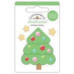 Doodlebug Design - Milk and Cookies Collection - Christmas - Doodle-Pops - 3 Dimensional Cardstock Stickers - Sweet Spruce