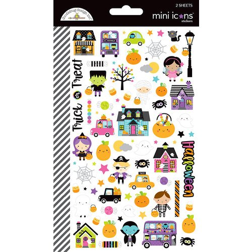Doodlebug Design - Booville Collection - Halloween - Cardstock Stickers - Mini Icons