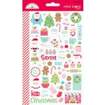 Doodlebug Design - Milk and Cookies Collection - Christmas - Cardstock Stickers - Mini Icons