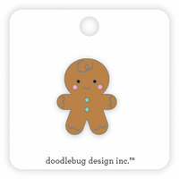 Doodlebug Design - Milk and Cookies Collection - Christmas - Collectible Pins - Gingerbread Man