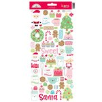 Doodlebug Design - Milk and Cookies Collection - Christmas - Cardstock Stickers - Icons