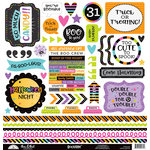 Doodlebug Design - Booville Collection - Halloween - 12 x 12 Cardstock Stickers - This and That
