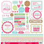 Doodlebug Design - Milk and Cookies Collection - Christmas - 12 x 12 Cardstock Stickers - This and That